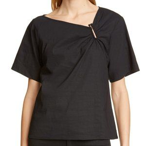 NEW A.L.C. 0 Abbey Ruched front Top Blouse T-Shirt